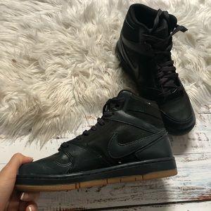 Nike Shoes - Nike | women's black high top sneakers size 8